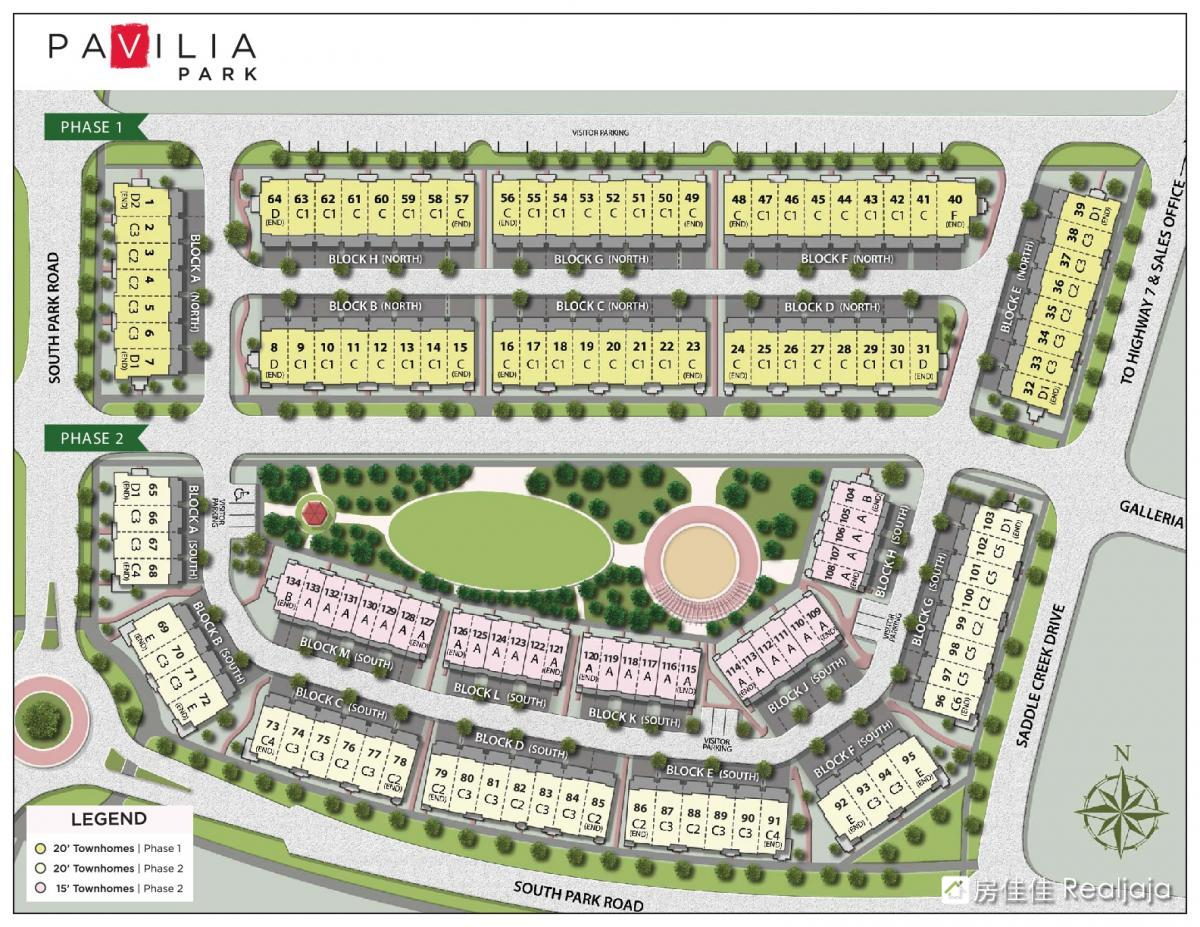 Pavilia Towns & Towers Site Maps